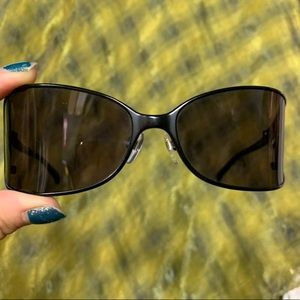 Michael kors black tint visors shield sunglasses